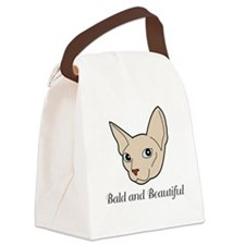 Baldy Cat Canvas Lunch Bag