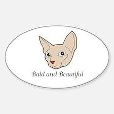 Baldy Cat Decal