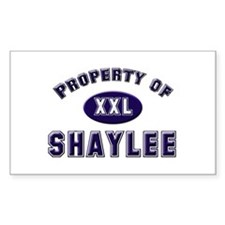 Property of shaylee Rectangle Decal