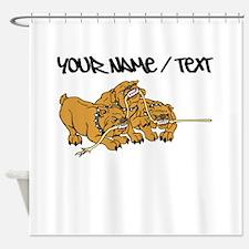 Bulldog Tug Of War Shower Curtain