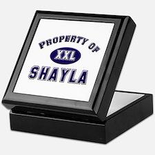 Property of shayla Keepsake Box