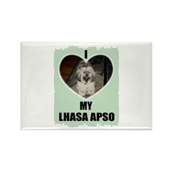 I LOVE MY LHASA APSO Rectangle Magnet (100 pack)