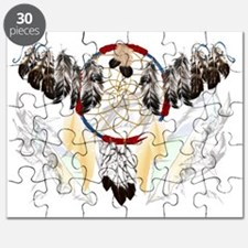 Dream Catcher and Feathers Trans Puzzle