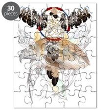 Dream Catcher and Feathers and Hawkface3x4T Puzzle
