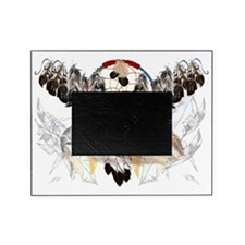 Dream Catcher and Feathers and Hawkf Picture Frame