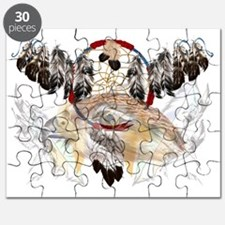Dream Catcher and Feathers and Hawkface Tra Puzzle