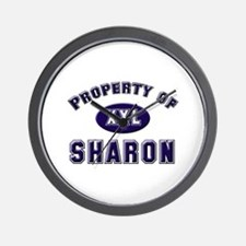 Property of sharon Wall Clock