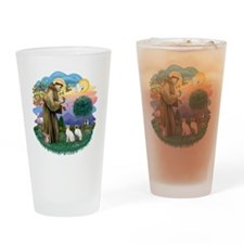 St Francis (ff) - Siamese Cats (TWO Drinking Glass
