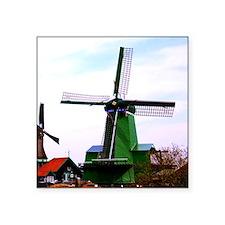 Old dutch historical power wind mill Sticker