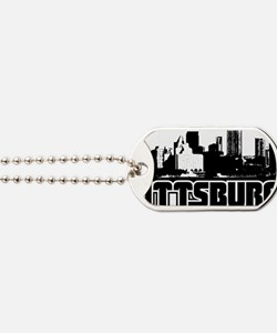 Pittsburgh Skyline Dog Tags