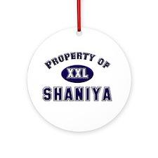 Property of shaniya Ornament (Round)