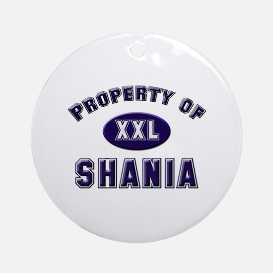 Property of shania Ornament (Round)