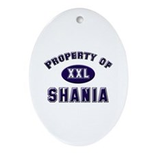 Property of shania Oval Ornament