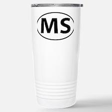 Mississippi MS oval Travel Mug