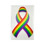 Rainbow Pride Ribbon Rectangle Magnet (100 pack)