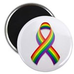 "Rainbow Pride Ribbon 2.25"" Magnet (10 pack)"