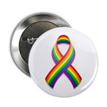 "Rainbow Pride Ribbon 2.25"" Button (10 pack)"