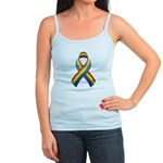 Rainbow Pride Ribbon Jr. Spaghetti Tank