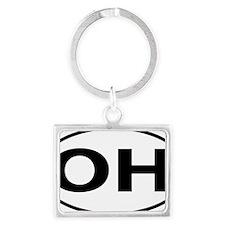 Ohio OH oval Landscape Keychain