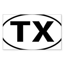 Texas TX txt tax oval Decal