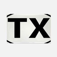 Texas TX txt tax oval Rectangle Magnet