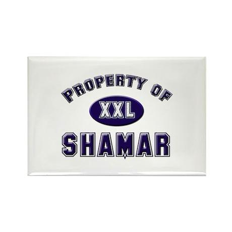 Property of shamar Rectangle Magnet