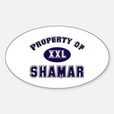 Property of shamar Oval Decal