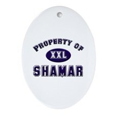 Property of shamar Oval Ornament