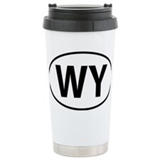 Wyoming WY oval Travel Mug