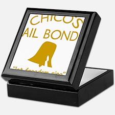 Chicos Bail Bonds Gold Keepsake Box