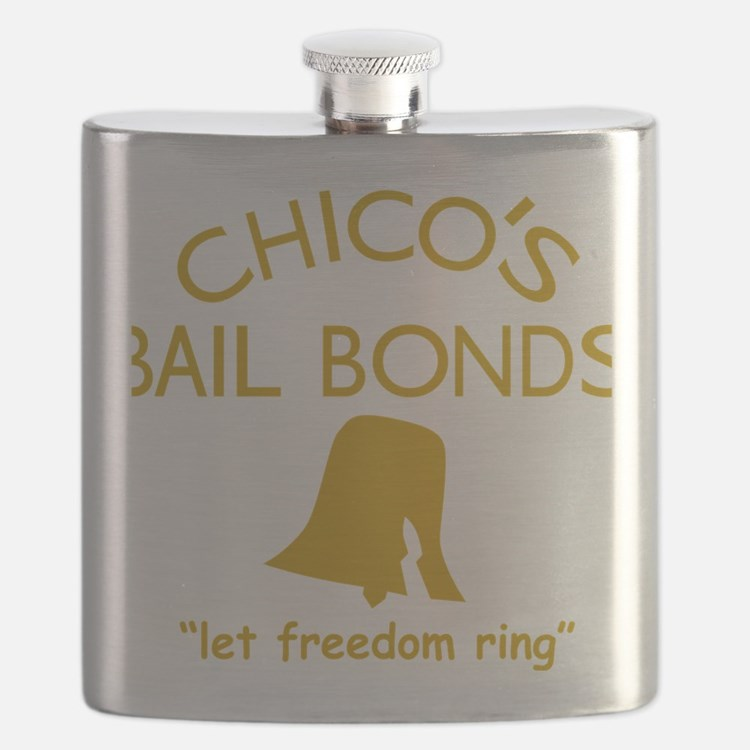 Chicos Bail Bonds Gold Flask