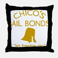 Chicos Bail Bonds Gold Throw Pillow