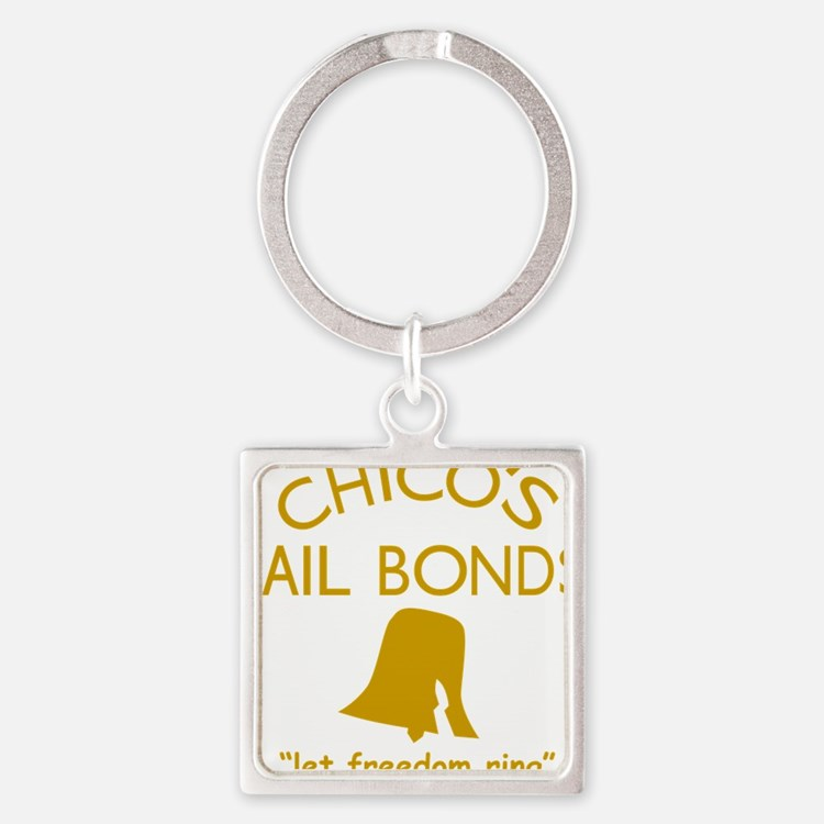 Chicos Bail Bonds Gold Square Keychain