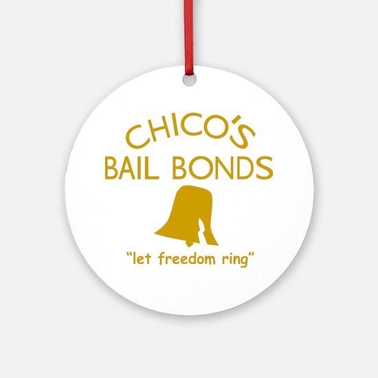 Chicos Bail Bonds Gold Round Ornament