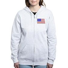 North Dakota Flag Zip Hoodie
