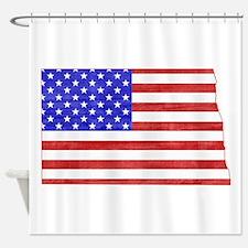 North Dakota Flag Shower Curtain