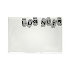 Lugnuts WHITE Rectangle Magnet