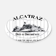 ALCATRAZ BB Oval Car Magnet