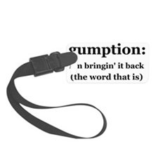 gump_web(BnWtext) Luggage Tag