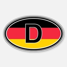 Germany Euro Oval Stickers
