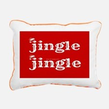 Santa Jingle Rectangular Canvas Pillow