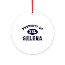 Property of selena Ornament (Round)