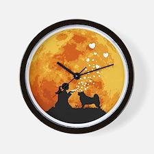 Alaskan-Malamute22 Wall Clock