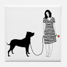 Dogo-Argentino11 Tile Coaster