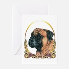 Bullmastiff Christmas/Holiday Greeting Cards (Pack