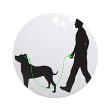 Dogo-Argentino34 Round Ornament