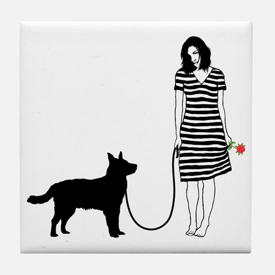 Australian-Cattle-Dog11 Tile Coaster