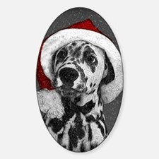 Dalmatian with snow Decal