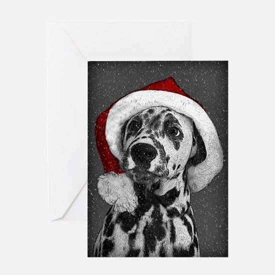 Dalmatian with snow Greeting Card