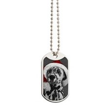Dalmatian with snow Dog Tags